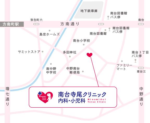 南台寺尾クリニックまでの地図